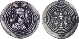 Sasanian Kingdom. Khusrau II AD 590-628 . ARDrachm, SHY (Shiraz) Mint, Date 37