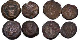 SELEUKID KINGS, Antiochos III. 222-187 BC. Group of 4 Æ units